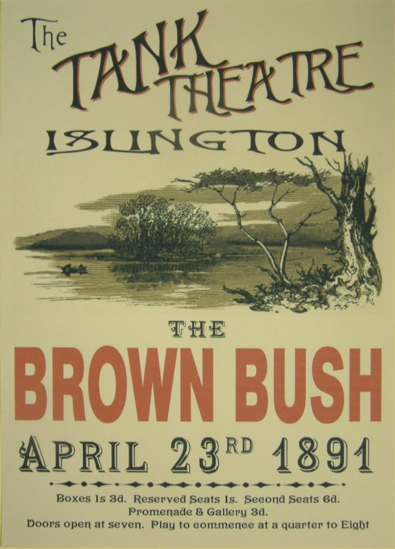 prop theatre poster brown bush diary of a nobody victorian pastiche