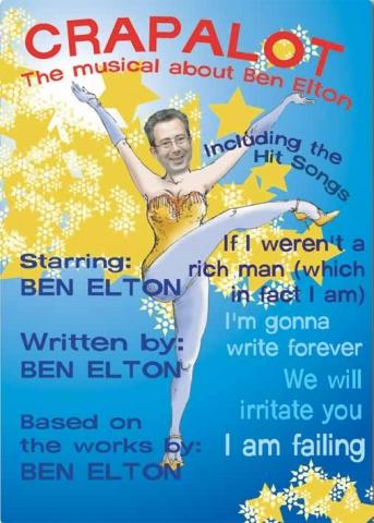 illustration musical poster ben elton crapalot room 101
